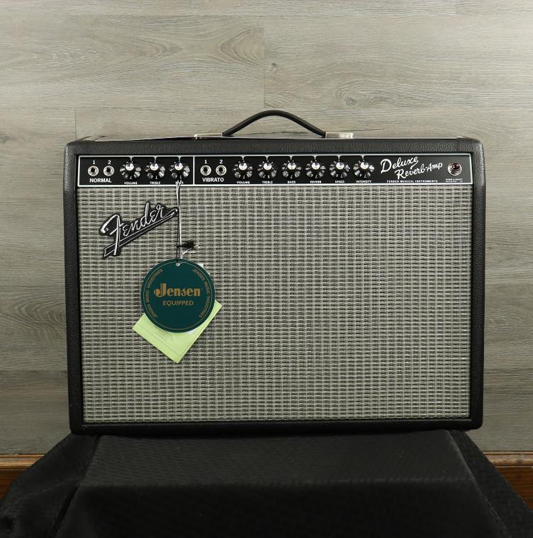 """Fender '65 Deluxe Reverb Reissue 22-Watt 1x12"""" Guitar Combo Black"""