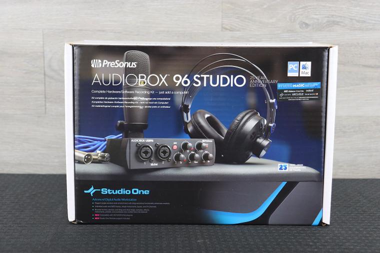 PreSonus AudioBox 96 Studio Recording Ultimate Bundle 25th Anniversary Black