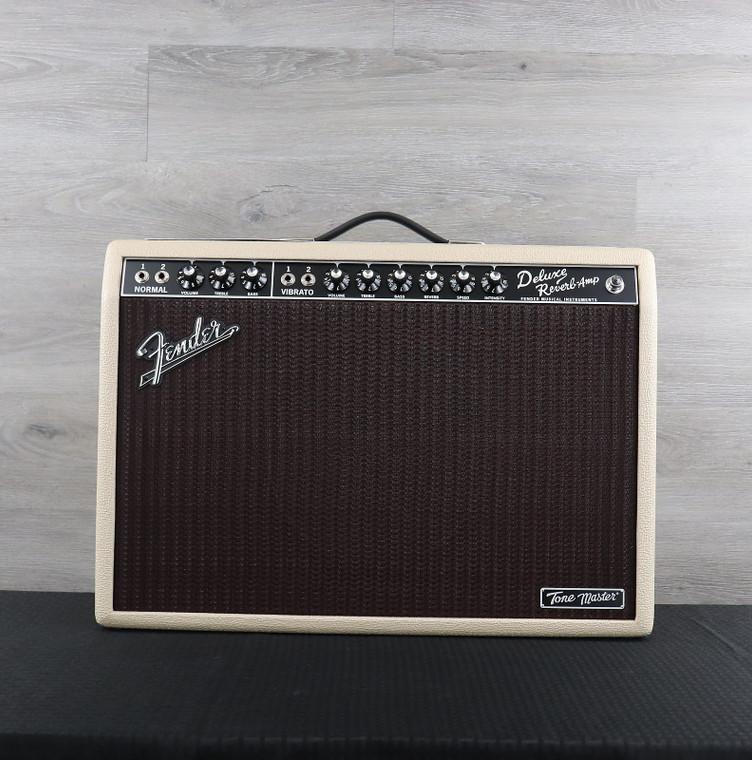 "Fender Tone Master Deluxe Reverb 2-Channel 22-Watt 1x12"" Digital Guitar Combo Blonde"