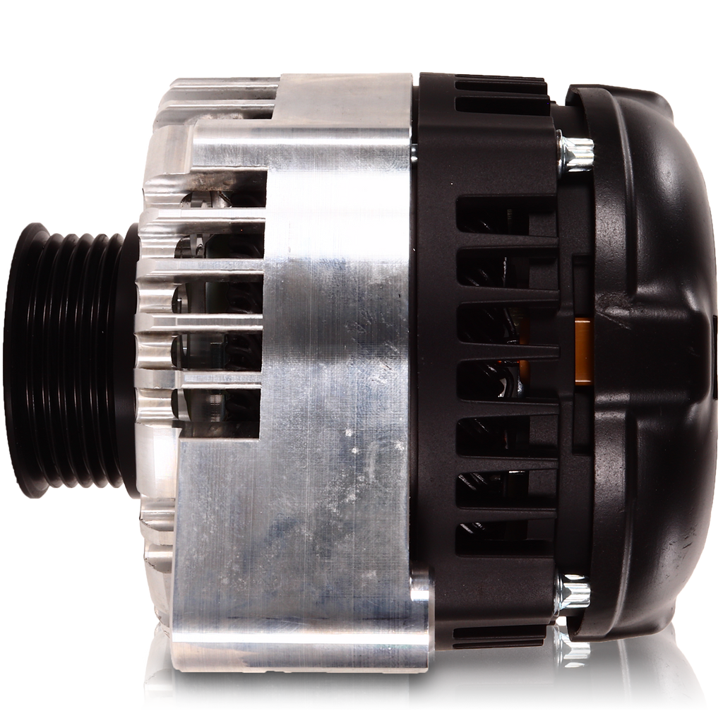 S Series Billet 170 AMP Racing Alternator For C6 Corvette - Machined Finish