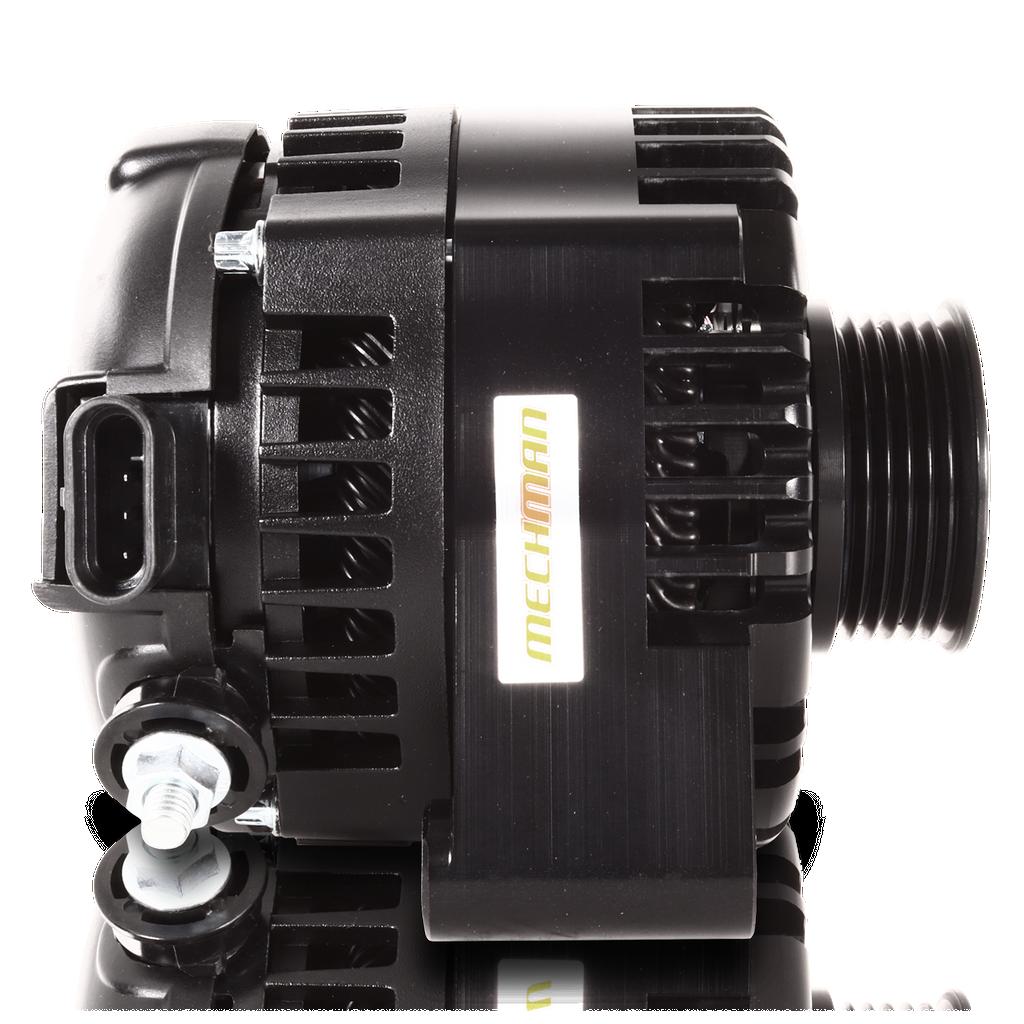 S Series Billet 240 AMP Racing Alternator For C6 Corvette - Black Anodized
