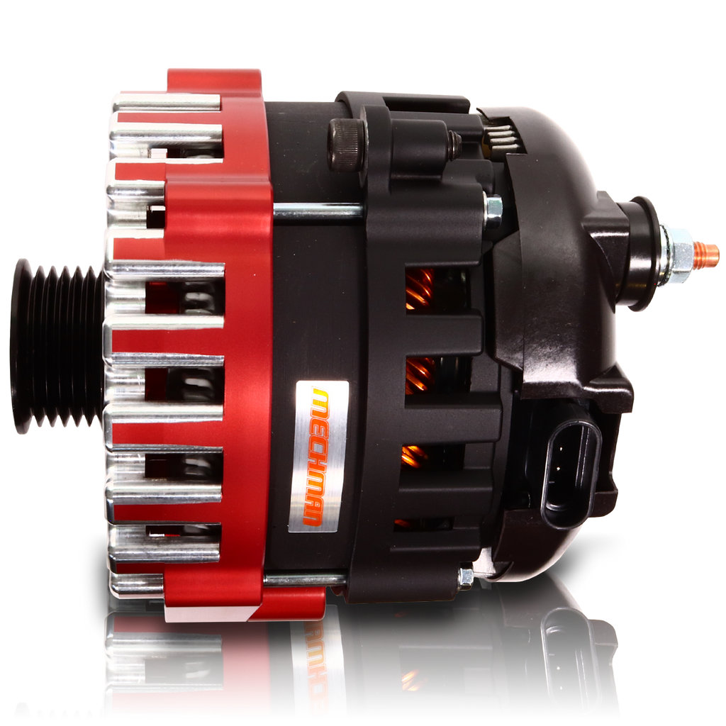 370 amp Elite series alternator for 88-95 GM Truck (Red)