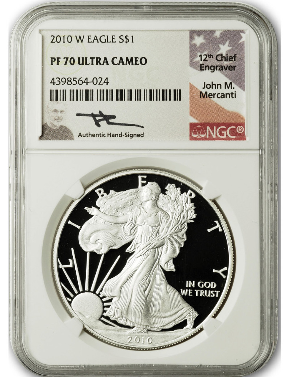 2007 W American Silver Eagle NGC Certified PF 70 Ultra Cameo