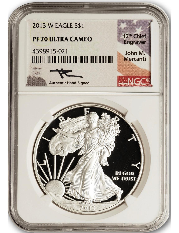 2015-W $1 Burnished American Silver Eagle Original Packaging W//COA