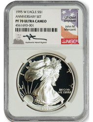 Why are Mercanti Signed Silver Eagles NGC PF70 Ultra Cameo coins so special?