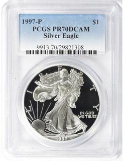 1997-P American Silver Eagle PCGS PR70DCAM