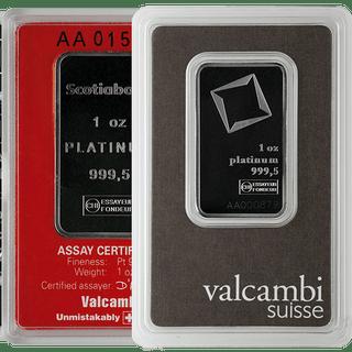 1 oz Platinum Bar .9995