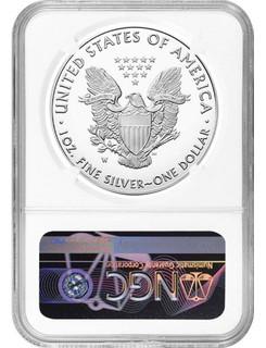 2021-W Type 1 Silver Eagle FDOI NGC PF70 David Motl Signed