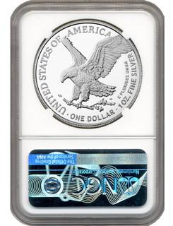 2021 T-2 American Silver Eagle NGC FDI MS70 Michael Gaudioso Signed