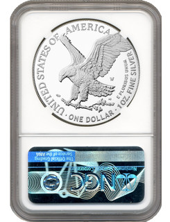 2021-W Type 2 Silver Eagle Advanced Release NGC PF70 Ultra Cameo