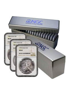 1986-2020 American Silver Eagle 35-pc Set NGC MS69 (2 New NGC Boxes)