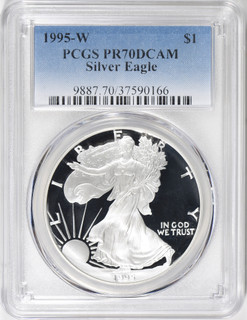 1995-W Proof American Silver Eagle PCGS PR70DCAM