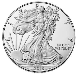 2019 1 oz American Silver Eagle Bullion Coin .999 Fine BU