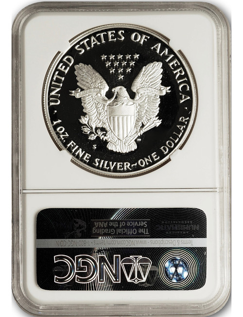 2020-S Proof American Silver Eagle NGC PF70 Ultra Cameo Mercanti Signed First Day of Issue