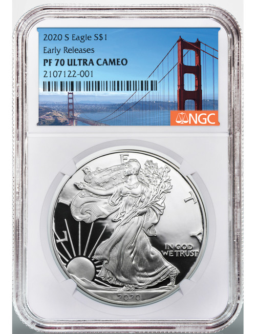 2020-S American Silver Eagle Early Releases NGC PF70 Ultra Cameo