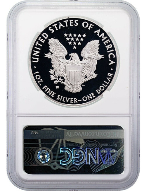 2020-W American Silver Eagle v75 WWII NGC ER PF70UCAM