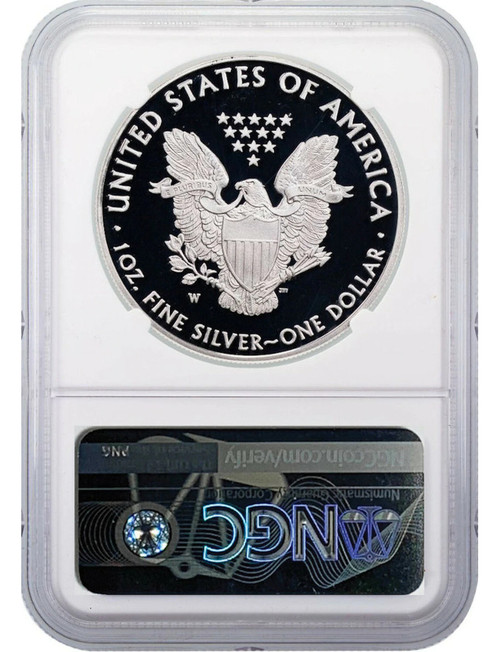 2020-W American Silver Eagle v75 WWII NGC ER PF70UCAM Mercanti Signed