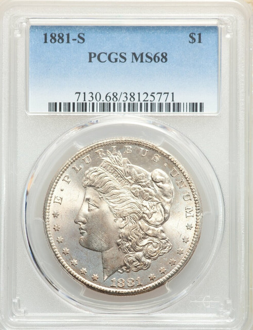 1881-S S$1 Morgan Silver Dollar PCGS MS68