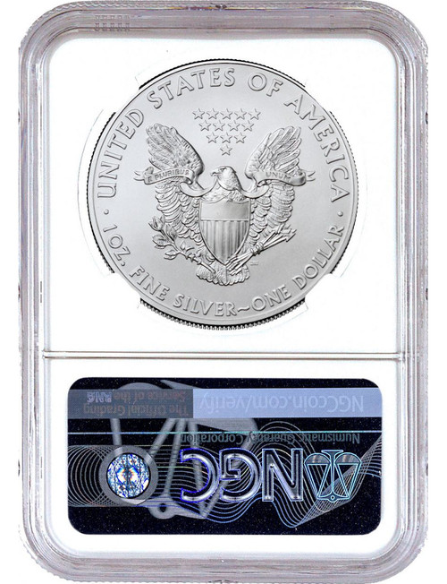 2021 Type 1 Silver Eagle Brown Label NGC MS69