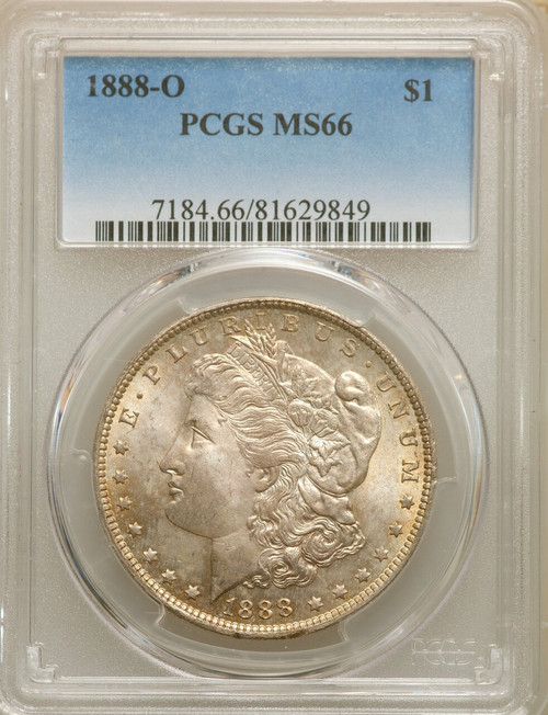 1888-OS$1Morgan Silver Dollar PCGS MS66