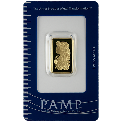 10 Gram Pamp Suisse Fortuna Veriscan Gold Bar w/ Assay