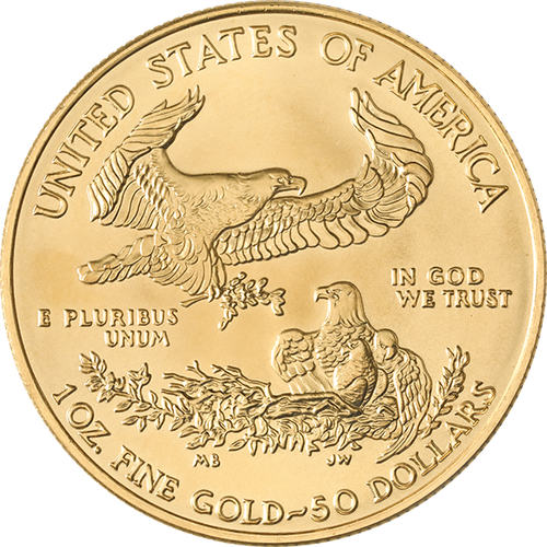 1 oz American Gold Eagle Coin Random Year BU