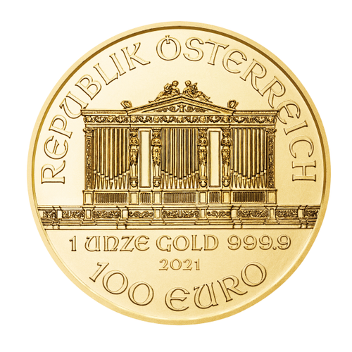 2021 1 oz Austrian Gold Philharmonic Coin