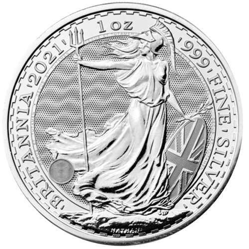 2021 1 oz Silver Britannia Great Britain