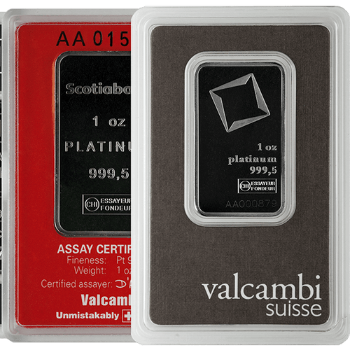 1 oz Platinum Bar .9995