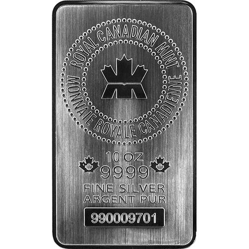 10 oz Silver Bar Royal Canadian Mint