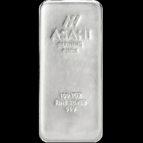 100 oz Asahi Silver Bar .999