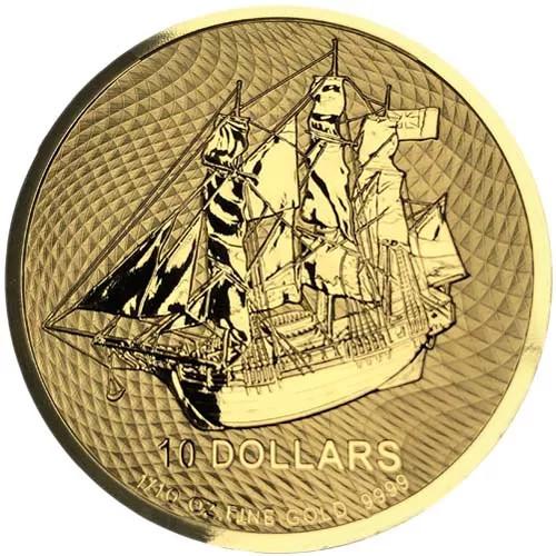 2020 1/10 oz Cook Island Bounty Gold Coin