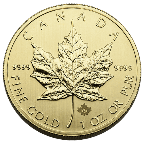 1 oz Canadian Gold Maple Leaf .9999 Fine