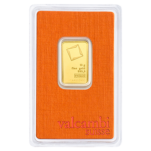 10 Gram Valcambi Gold Bar New w/ Assay