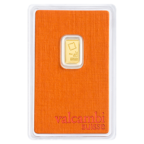 1 Gram Valcambi Gold Bar New w/ Assay