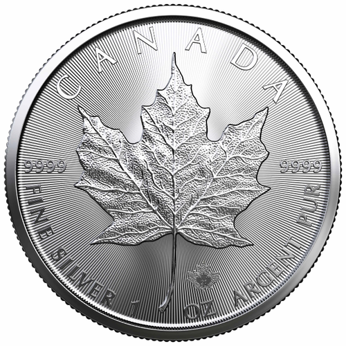 2021 1 oz Canadian Silver Maple Leaf Coin BU