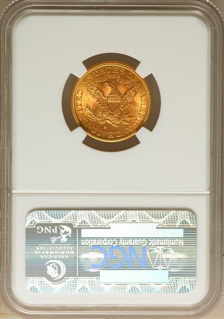 1893-S $5 Five Dollar Liberty Half Eagle NGC MS65 Top Pop!