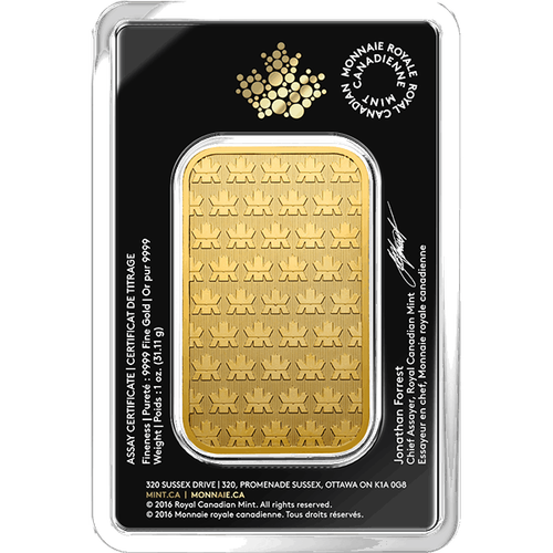 1 OZ GOLD BAR RCM
