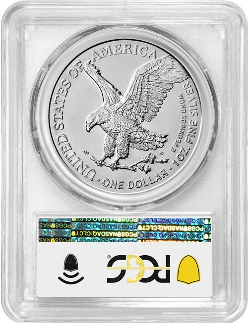 2021 Type 2 American Silver Eagle FDI PCGS MS70 Flag Label