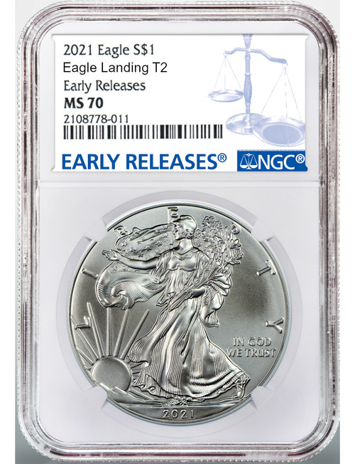 2021 Type 2 American Silver Eagle ER NGC MS70