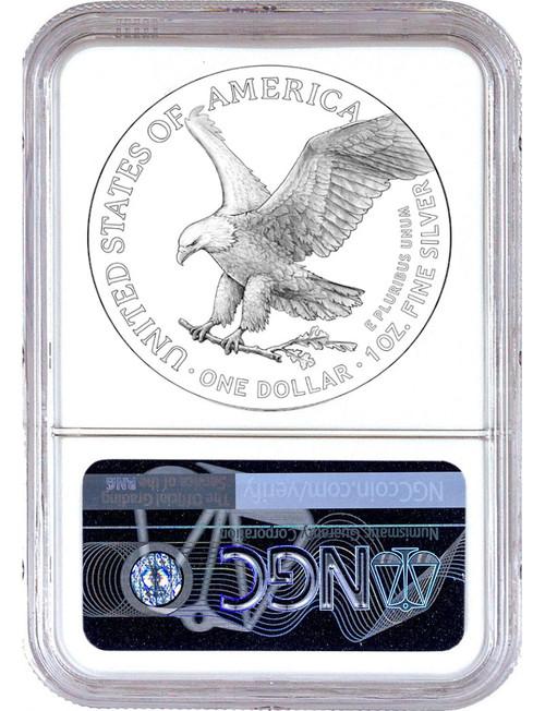 2021 Type 2 American Silver Eagle FDI NGC PF70 Ultra Cameo