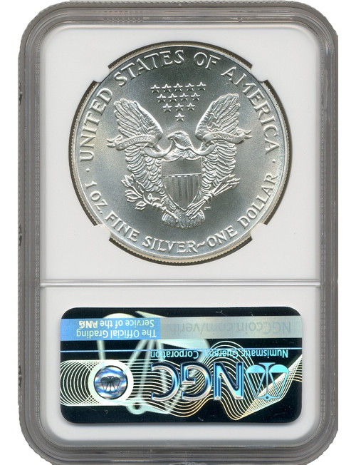1986-S Silver Eagle Early Production Pop 7 NGC MS70 Bridge Label