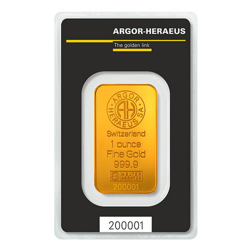 1 OZ GOLD BAR ARGOR-HERAEUS