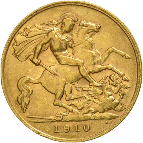 King Edward Great Britain Gold Sovereign Coin