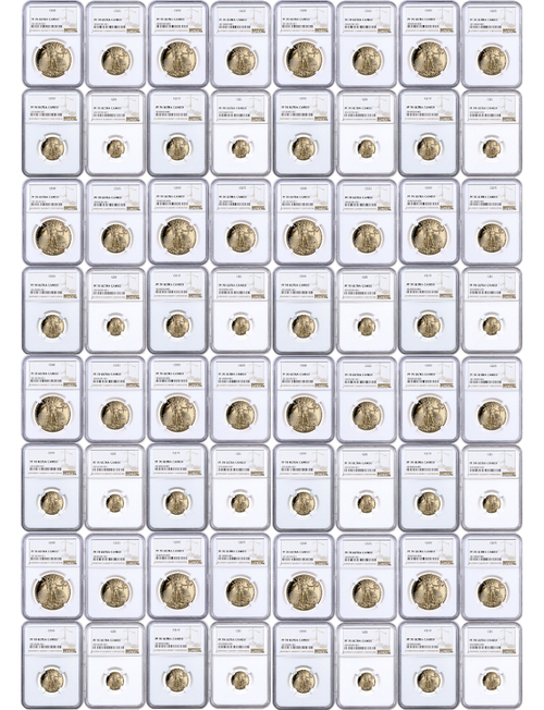 1986-2021 American Gold Eagles Complete Date Run NGC PF70 Set of 135