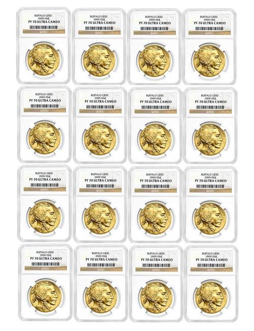 2006-2020 American Gold Buffalos Complete Date Run NGC PF70