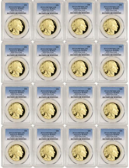 2006-2020 American Gold Buffalos Complete Date Run PCGS PR70DCAM