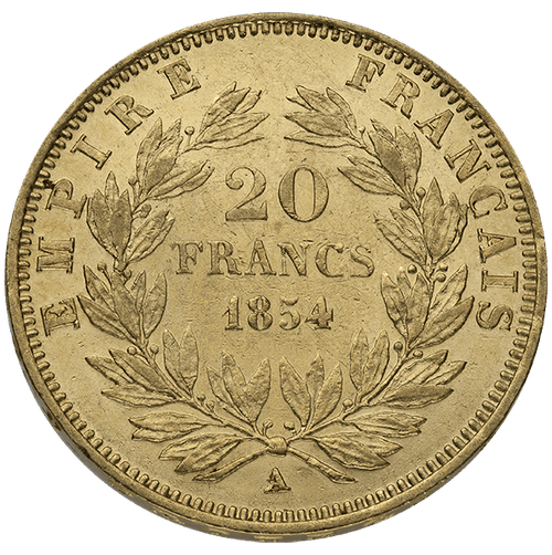 20 FRANC FRENCH GOLD COIN NAPOLEON III