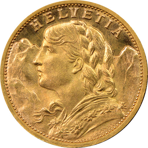 20 FRANC SWISS GOLD COIN