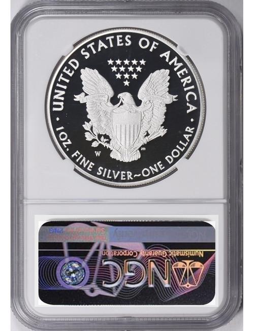 2018-W Silver Eagle NGC PF70 Ultra Cameo Mercanti Reagan Bust Art Label